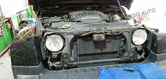 Jeep Wrangler Seal Beam LED headlight Modified 1