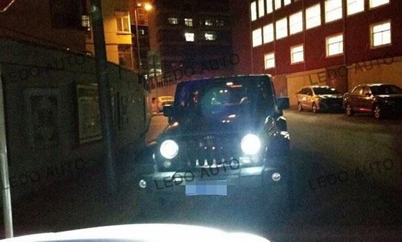 Jeep Wrangler Seal Beam LED headlight Modified 6