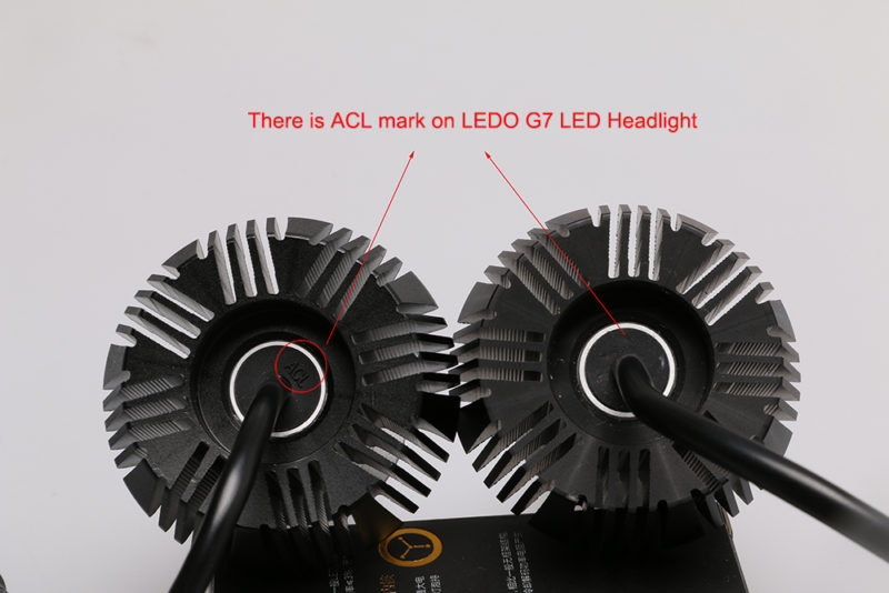 there is ACL Mark on Ledo G7 Philips LED Headlight