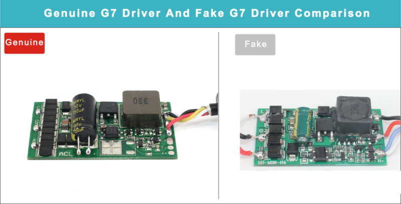 genuine-g7-driver-and-fake-g7-driver-comparison