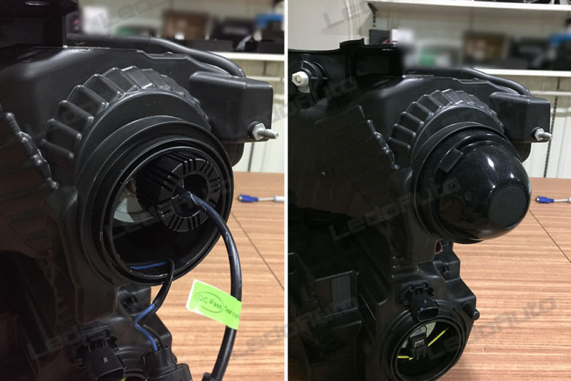 LED Headlight Rubber Dust Cover is Important on Retrofit