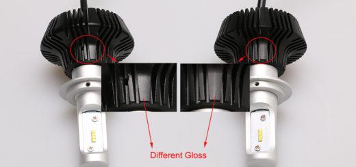G7 Philips LED Headlight VS. Fake G7 LED Headlight -1