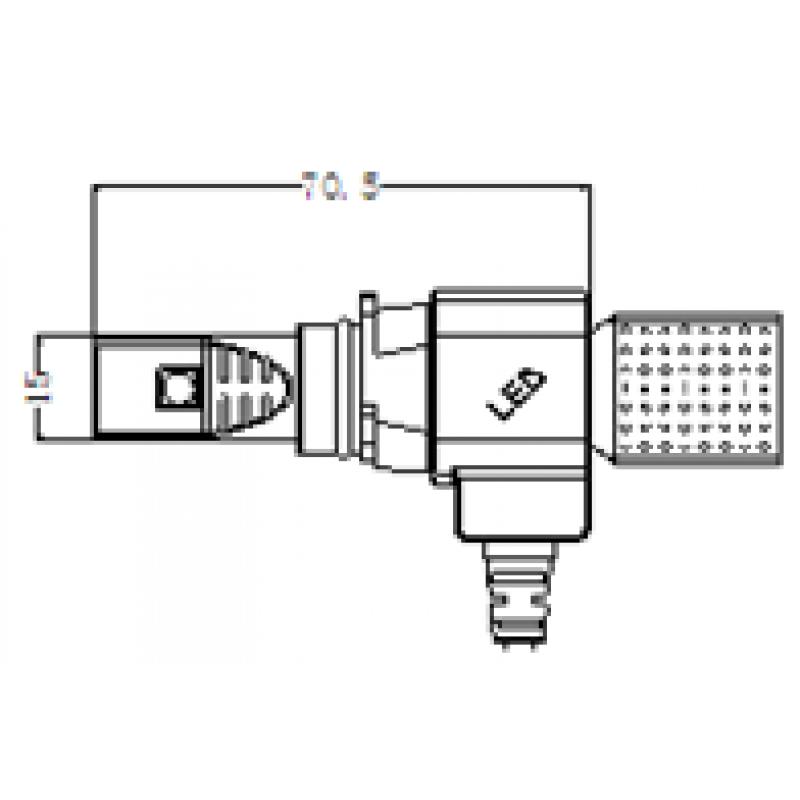 g5 mini fit led headlight kit with flexible tinned copper