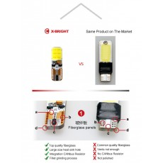 X-Bright COB T10 LED Bulb Comparision To Same Product on The Market